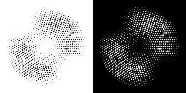Halftone circle frame dotted  set.