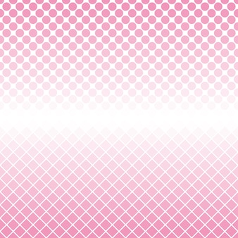 Halftone circle and square pattern background