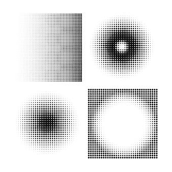 하프톤 서클 하프톤 도트 패턴 질감 흰색 배경에 설정