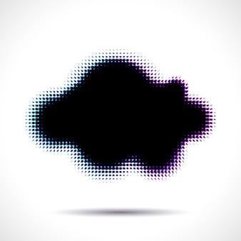 색수차가 있는 하프톤 구름 모양