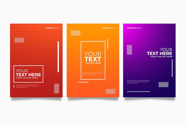 Halftone colorful cover collection