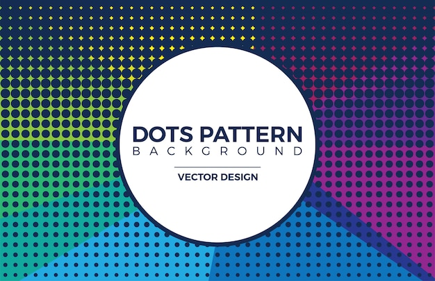 Halftone colorful dots texture background.