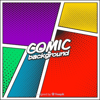 Halftone comic background