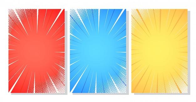 Halftone comic stripes background vector illustration