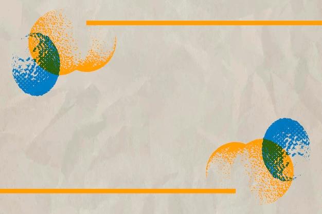 베이지색 배경에 하프톤 코로나바이러스 세포