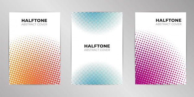 Halftone cover design background set a4 format
