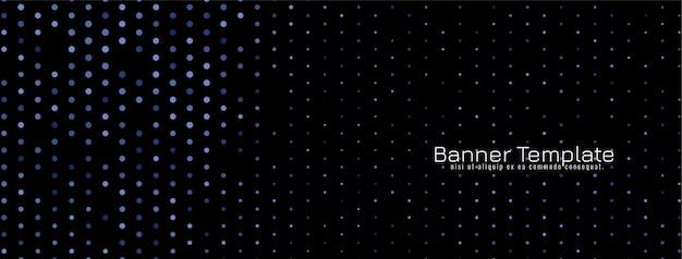 ハーフトーンデザインダーク装飾バナーベクトル