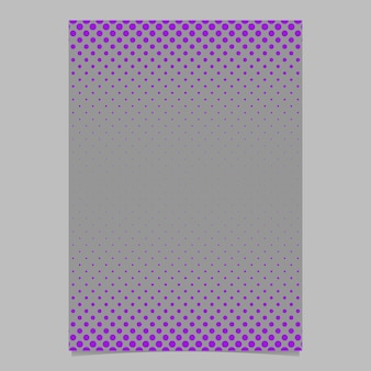 Halftone dot pattern cover template - vector document background design with purple circles