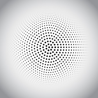 Halftone dots design