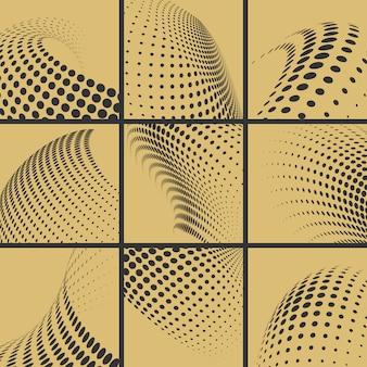Halftone dots effect set