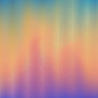 Halftone dots on blur gradient background