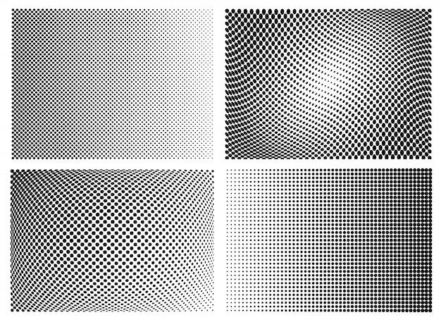 Halftone dots pattern set