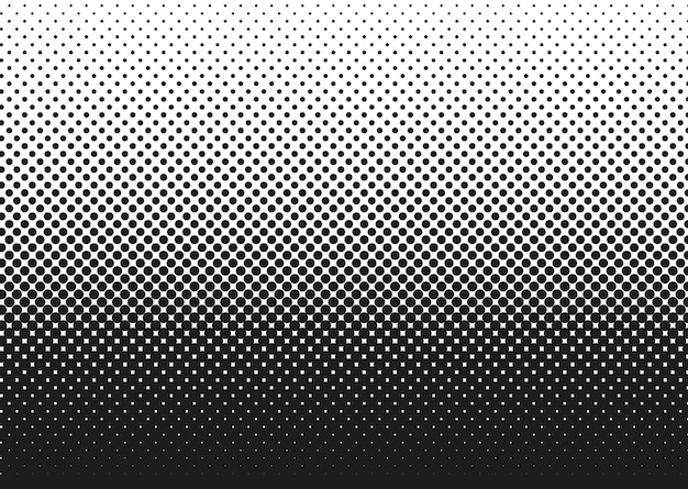 Halftone dotted pattern. pop art gradient background with circles. comic half tone texture
