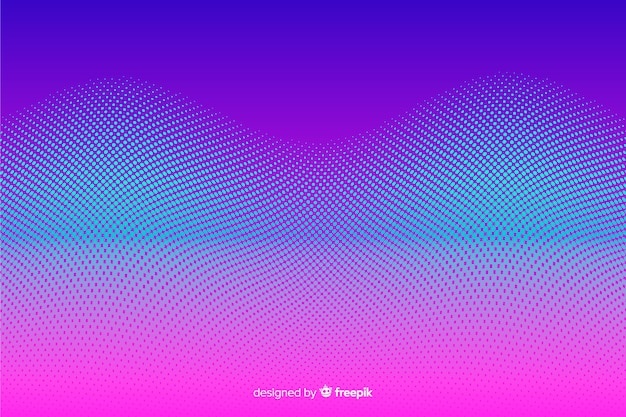 Halftone effect background gradient style