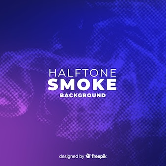 Halftone effect smoke background