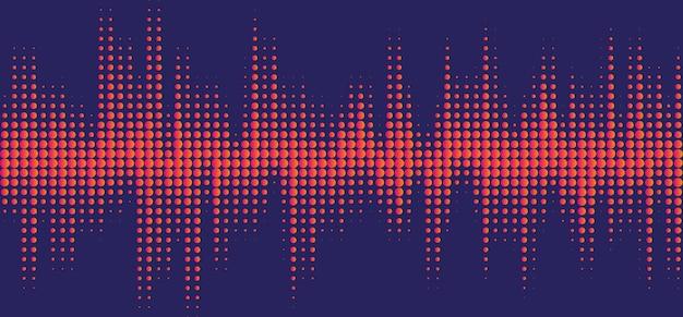Halftone equalizer sound wave design