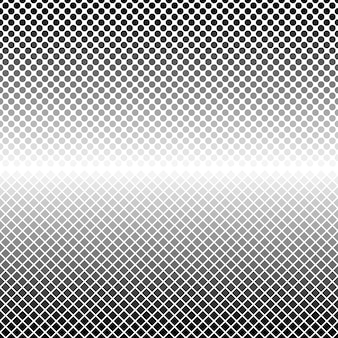 Halftone geometrical dot and square pattern background
