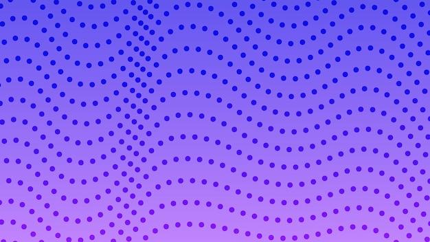 ドットのあるハーフトーングラデーションの背景。コミックスタイルの抽象的な青い点線のポップアートパターン。ベクトルイラスト
