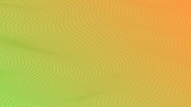 ドットのあるハーフトーングラデーションの背景。コミックスタイルの抽象的な緑の点線のポップアートパターン。ベクトルイラスト