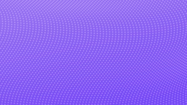 Halftone gradient background with dots. abstract violet dotted pop art pattern in comic style. vector illustration