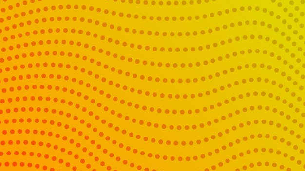 Halftone gradient background with dots. abstract yellow dotted pop art pattern in comic style. vector illustration