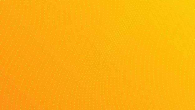 ドットのあるハーフトーングラデーションの背景。コミックスタイルの抽象的な黄色の点線のポップアートパターン。ベクトルイラスト
