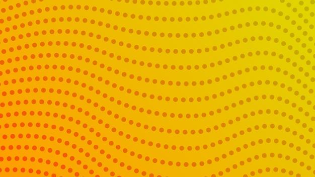 점이 있는 하프톤 그라데이션 배경. 만화 스타일의 추상 노란색 점선 팝 아트 패턴입니다. 벡터 일러스트 레이 션