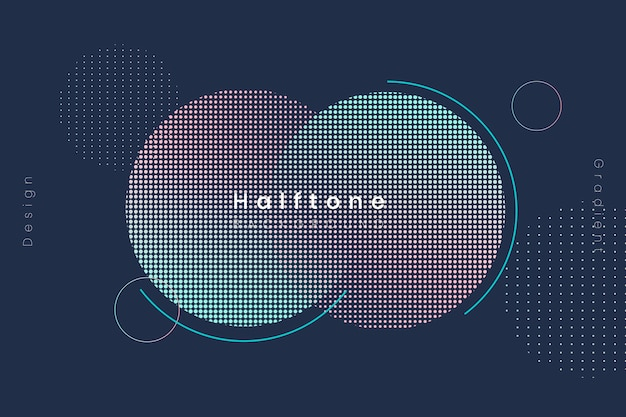 Halftone gradient background