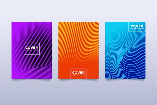 Halftone gradient cover collection