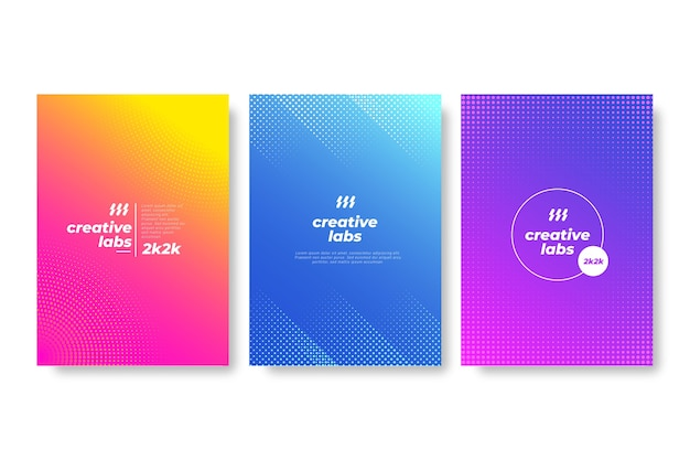 Halftone gradient cover set