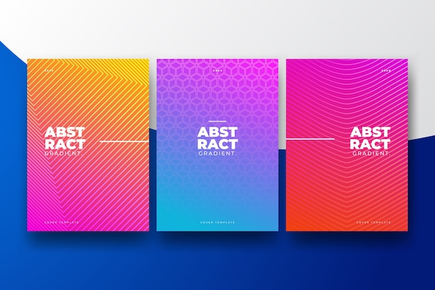 Halftone gradient design of cover collection