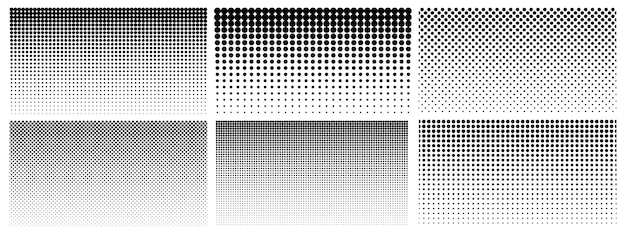Halftone gradient. dotted gradient, smooth dots spraying and halftones dot