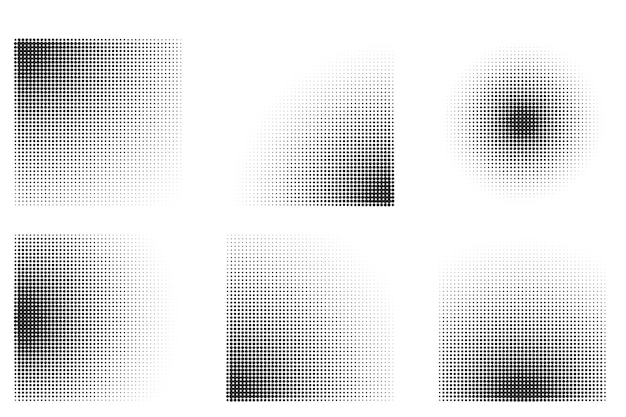 Halftone gradient square shape background