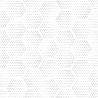 Halftone hexagons technology light repetitive seamless pattern