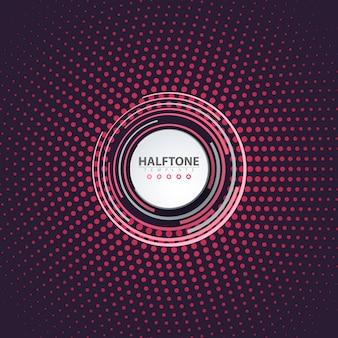 Halftone idea. color business background