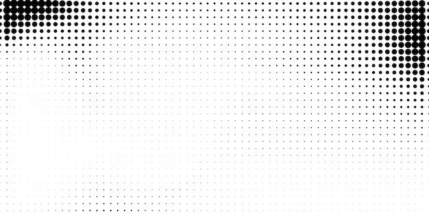 抽象的なスタイルのハーフトーン。白と黒の背景。