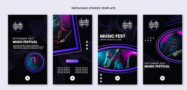 Halftone music festival instagram stories