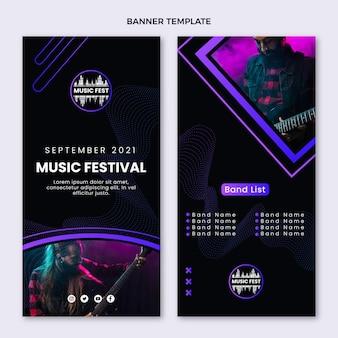Полутоновый музыкальный фестиваль вертикальные баннеры