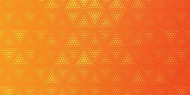 Halftone pattern in triangular style background