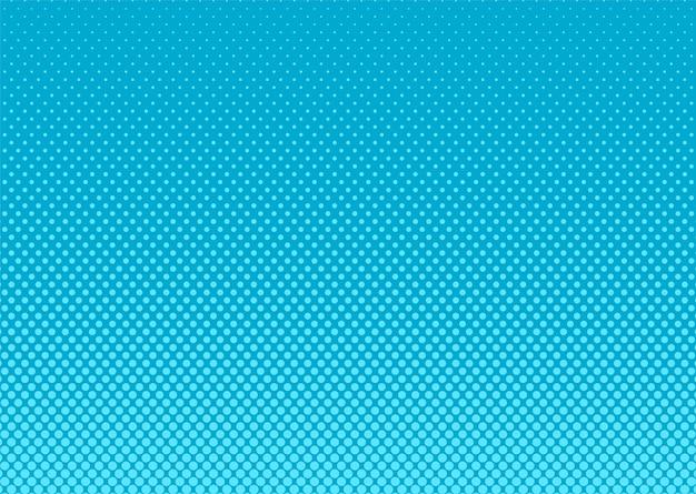 ハーフトーンのポップアートの背景。コミックブルー柄。ベクトルイラスト。