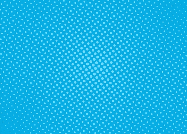 ハーフトーンのポップアートパターン。コミックブルーの背景。ベクトルイラスト。