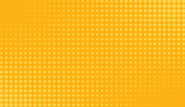 ハーフトーンのポップアートパターン。コミックオレンジ色の背景。ベクトルイラスト。