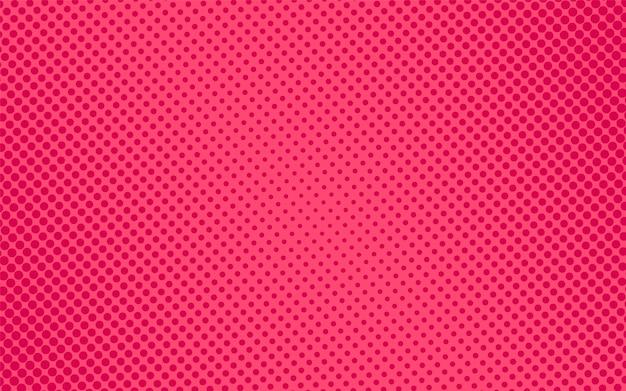ハーフトーンのポップアートパターン。コミックピンクの質感。