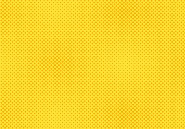 Полутоновый узор поп-арт. комическая желтая текстура. векторная иллюстрация.