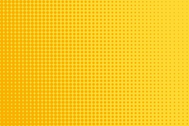 하프톤 팝 아트 패턴입니다. 노란색 만화 배경입니다. 점이 있는 하프 톤 텍스처입니다. 벡터