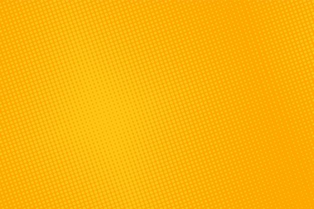 ハーフトーンのポップアートパターン。黄色の漫画の背景。