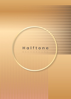 Halftone rectangle background frame