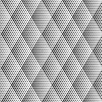 Halftone rhombus seamless pattern