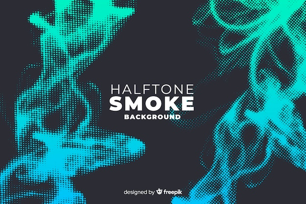 Halftone smoke background