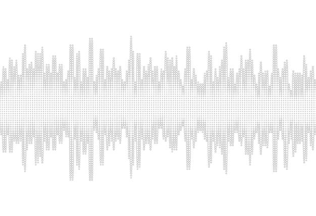 Halftone sound wave background